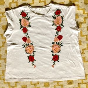 BP embroidered floral tee shirt. So on trend!!